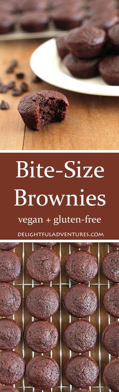 When you want a brownie but you don't want one that's regular-sized, these vegan, gluten-free bite-size brownies are the perfect solution to your craving!