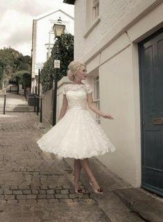 A mid length dress...hmmm