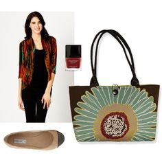 """Red and Teal for Fall"" by sassysaks @Polyvore www.sassysaks.com"
