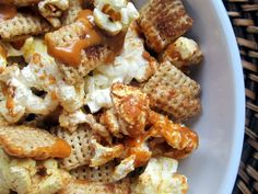 Top Five Easy & Healthy Desserts + Tips | Ambitious Kitchen: yummy butterscotch popcorn chex mix