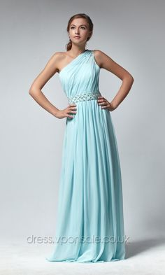 One Shoulder Chiffon Pleated A-line Prom Dress DVP0073 [DVP0073]