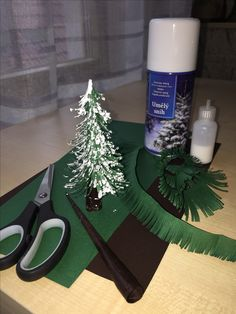 Christmas tree made from paper