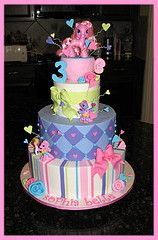 Pink, purple ,yellow and much more cake