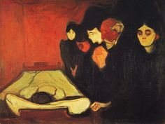 Edvard Munch , By the Deathbed, 1895
