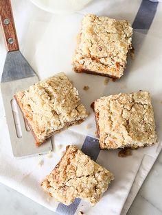 Apple Blondies with Cinnamon Almond Streusel