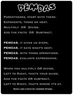 Divisible by 3 [Andrew Stadel]: PEMDAS song