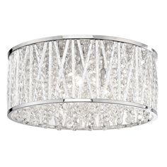 Contemporary semi-flush ceiling light from Paul Neuhaus available at PAGAZZI Lighting featuring a polished chrome finish and crystal droplet detailing. Semi Flush Ceiling Lights, Wall Lights, Olympia, Light Games, Large Chandeliers, Brass Table Lamps, Crystal Decor, Lights Background, Beautiful Lights