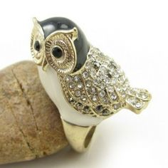 Lovely Owl Rhinestone Animal Ring