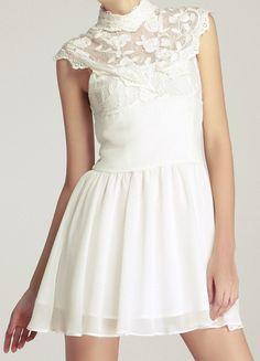 Victorian collar dress