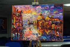 Venice by Palette Knife, in acrylics