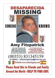Missing Amy Fitzpatrick Official website - Missing in Spain Bring Them Home, Bring It On, Amy, Missing Child, How Many People, About Uk, Believe, Spain, Website