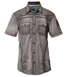 SARGE S/S - Gray- Wovens- Roar Clothing