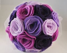 Etsy の Blue Felt and Button Wedding Bouquet by MissMcLellanMakes