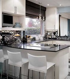 love this candice olsen kitchen (small kitchen design)