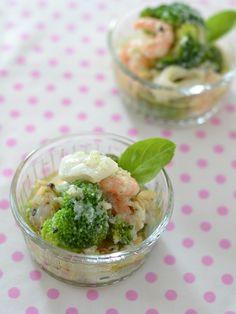 魚介とブロッコリーのマリネ by ロマンスグレーガール / 材料はすべて【冷凍】!レンジで調理、冷蔵庫で冷やして出来上がりです。 / Nadia