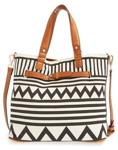 Sole Society Print Tote