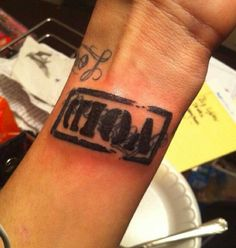 """Jayy's """"Void"""" tattoo he got to cover Daniel's name."""