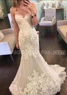 US$121.70-Beautiful Sweetheart Lace 2016 Wedding Dresses Mermaid Tulle Sheer Skirt. http://www.newadoringdress.com/beautiful-sweetheart-lace-2016-wedding-dresses-mermaid-tulle-sheer-skirt-p710891.html