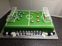 11th birthday cake football pitch