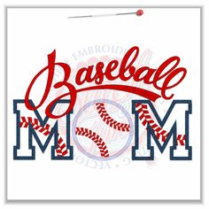 Lots of neat designs here 137 Baseball : Baseball Mom Applique 6x10