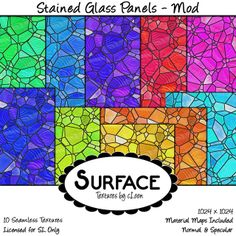 Surface - Stained Glass Panels - Mod Contact by Catty Loon, via Flickr