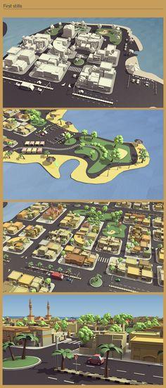 Jubail city on Digital Art Served