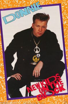 POSTER : MUSIC: NEW KIDS ON THE BLOCK - DONNIE  - FREE SHIP #3272 RAP19 B