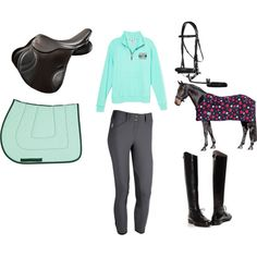 mint riding by dilse12 on Polyvore featuring Victoria's Secret PINK