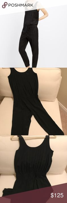 Vince Silk Romper Versatile black romper! Day to evening...pair with flats or heels.   Classic look 💯 % silk  Gently used in great condition Vince Other