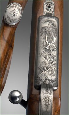 Rifle floorplate engraved