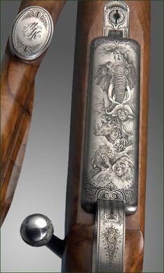 Rifle floorplate engraved
