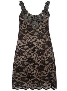 PRASLIN BLACK EMBELLISHED LACE DRESS  Price:£35.00