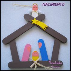 Ideas que mejoran tu vida Popsicle Stick Christmas Crafts, Popsicle Crafts, Christmas Crafts For Kids, Craft Stick Crafts, Kids Christmas, Holiday Crafts, Fun Crafts, Christmas Decorations, Christmas Ornaments