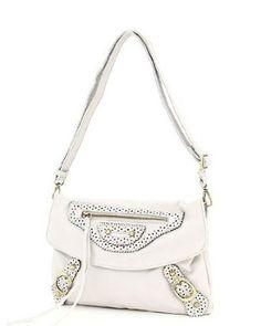 Designer Inspired Bethany Shoulder Handbag - White,$9.99
