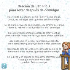 San Pío X, Papa, compuso esta preciosa oración que rezaba después de comulgar. Wisdom, Quotes, Pictures, Ideas, Powerful Quotes, Spirituality, Miracles Of Jesus, Quotations, Photos