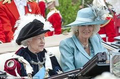 Queen Elizabeth II and the Duchess of Cornwall: 2013: Order of the Garter Service 6/17/2013
