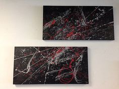 Two Piece Painting, Two Panel Wall Art, Contemporary, Modern Art, Original