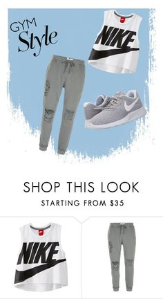 """Gym"" by adryonnac ❤ liked on Polyvore featuring NIKE"