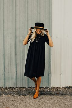 Too many black dresses? No such thing! The Loretta Dress in Black | ROOLEE #ROOLEEfave
