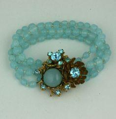Aquamarine Miriam Haskell Bracelet 2