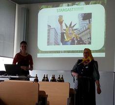 Offene SEO Vorlesung 2014 an der Hochschule Darmstadt, Vortrag Apfelwein-Freunde.de mit Frau Rauscher
