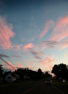 Pretty pink sunset