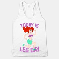 LOLOL. Need this for the gym. Today Is Leg Day | HUMAN (racerback athletic gray)