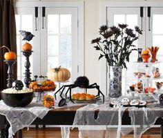 love the black flowers in a vase! Haute Halloween Style | Davis Life Magazine