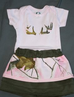 """Realtree Pink Camo Baby Girl Outfits - Perfect for the hunting dad with a """"Daddy's Girl"""""""