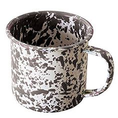 Amazon.com: Enamelware Coffee Mug - Grey Marble: Kitchen & Dining