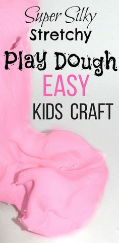 Homemade Play Dough with Conditioner and Corn Starch. Easy DIY Craft for Kids.