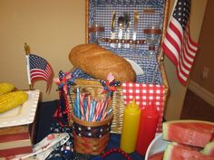 Picnic basket of goodies