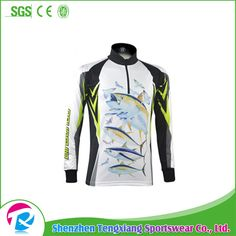2017 Long Sleeve Polyester Tournament Fishing Jersey