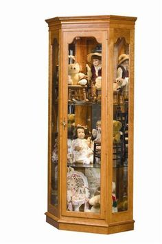 Amish Estate Corner Curio Cabinet